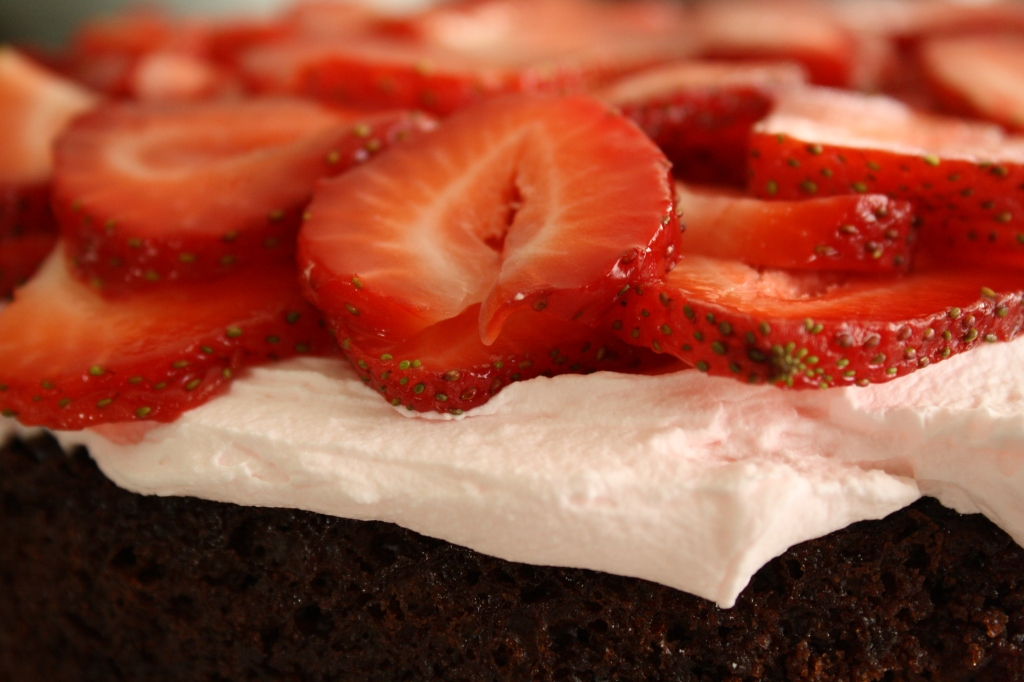 Chocolate Cake with Fresh Strawberry Filling